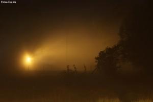 Тональная перспектива обусловленная довольно сильным туманом